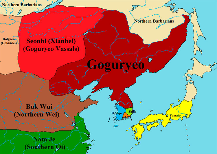 Mapa da Coréia antiga